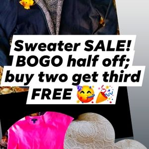 Sweater + jacket SALE!!!!! Through March 31st